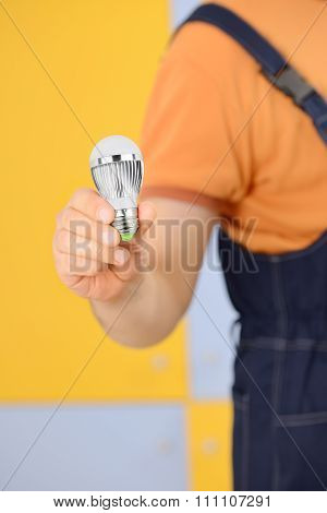 Worker With Bulb