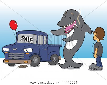 Shark Car Salesman