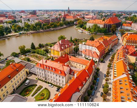 Wroclaw aerial view