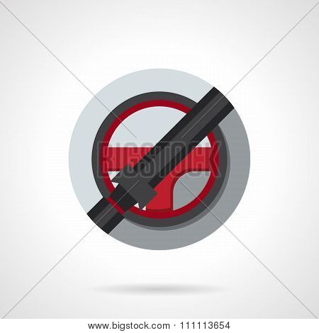 Driver safety round flat color vector icon