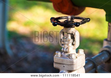 Industrial metal water tab, industrial facilities and water tab.