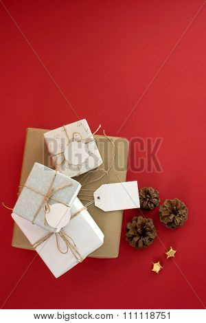 Concept Sale Gift Box Top View Tag Label Template