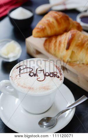 Breakfast Cappuccino Design - Bonjour