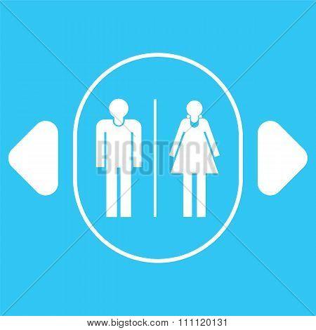 Toilet Icon Sign