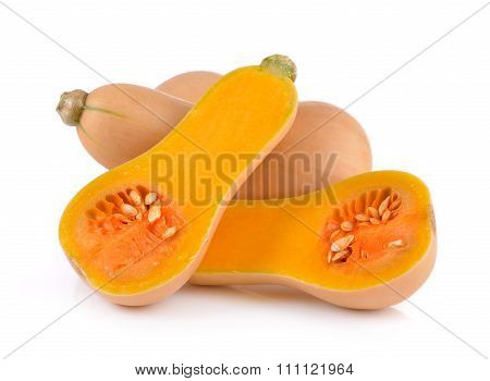 Butternut Squash On White Background