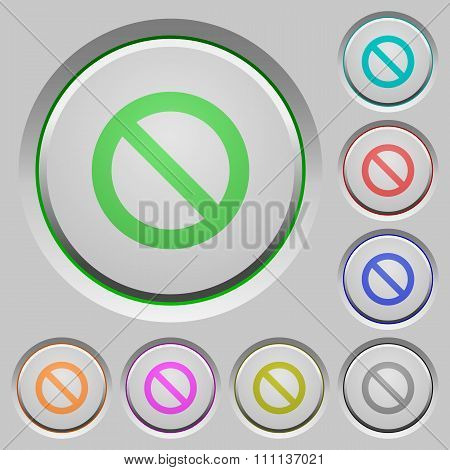 Blocked Push Buttons