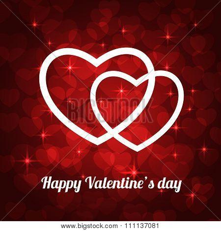 valentine bokeh background