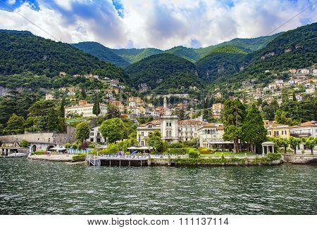 Moltrasio Town And Garden, Como Lake District Landscape. Italy, Europe.