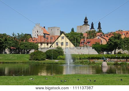 Sweden, The Old And Picturesque City Of Visby