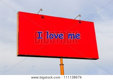 I love me, the inscription in English