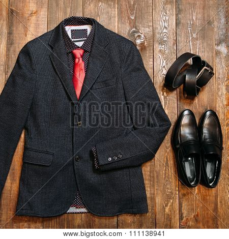 Collection Of Fashionable Business Clothes For Men