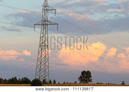 Beautiful Cloudscape And Field