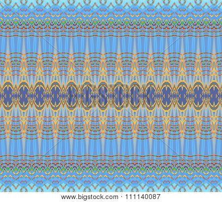 Seamless pattern blue yellow