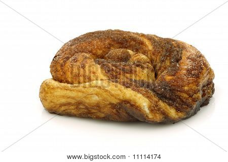 Traditional Dutch cinnamon and sugar roll