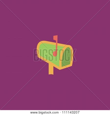 Mailbox flat icon