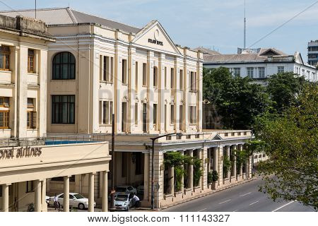 The Strand Hotel in Yangon