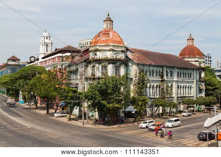 Faded Colonial Glory In Downtown Yangon