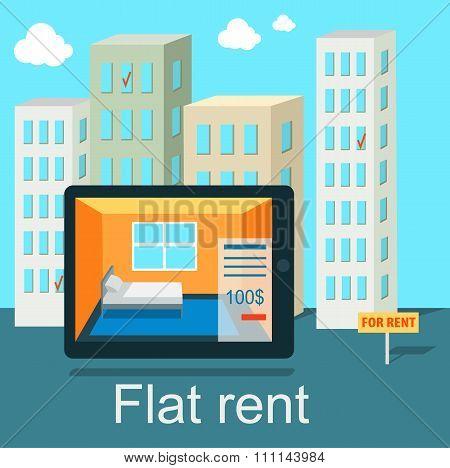 Flat Rent Price Design Concept