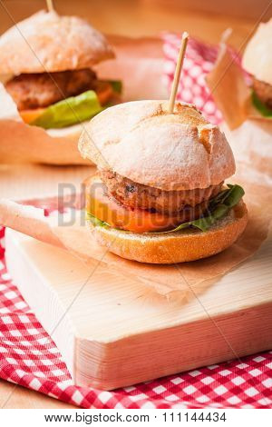 The mini burgers