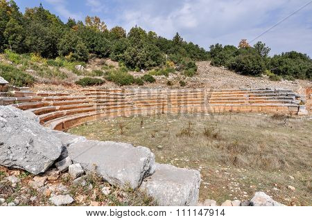 Amphitheatre At Ancient Ruined City Of Adada, Turkey.