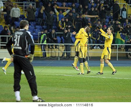 Metalist Kharkiv Vs. Metallurg Donetsk Football Match