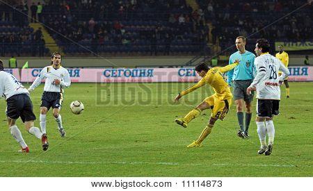 Metalist Charkiw vs Metallurg Donezk-Fußballspiel