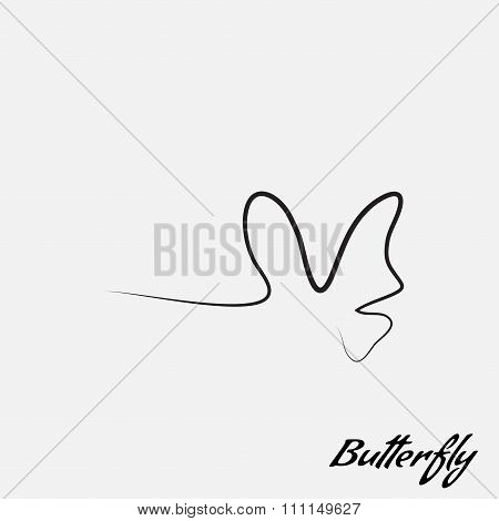 Logo Butterfly Contour Of The Lines