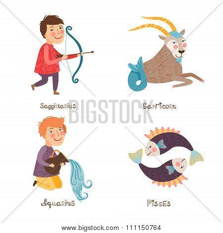 Sagittarius, Capricorn, Aquarius, Pisces