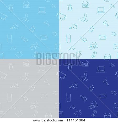 Seamless Pattern  Of Appliances