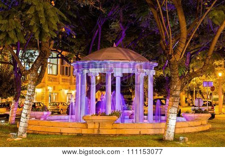 Fountain In The City Centre Of Paphos - Cyprus