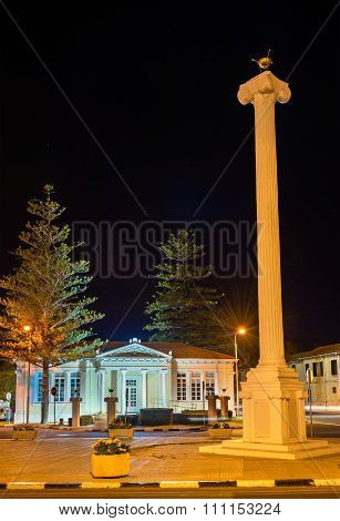 The 28Th Of October Column In Paphos - Cyprus
