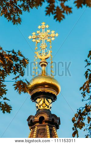 Close up Chapel-tomb of Paskevich in Gomel, Belarus