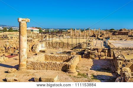 Ancient Ruins In Paphos Archaeological Park - Cyprus