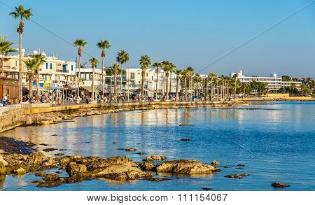 View Of Embankment At Paphos Harbour - Cyprus
