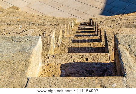 Steps Of Odeon Amphitheatre In Paphos - Cyprus