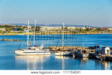Yachts In Harbour Of Paphos - Cyprus