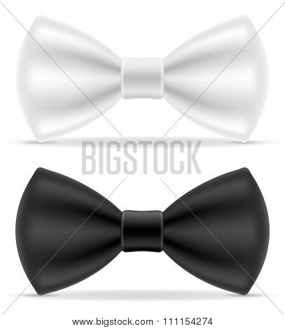 Black And White Bow Tie For Men A Suit Vector Illustration