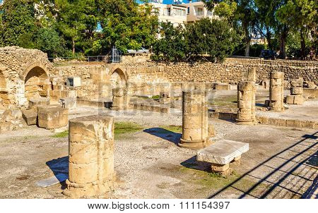 Ruins Of Early Byzantine Basilica In Paphos - Cyprus