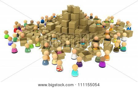 Cartoon Crowd, Boxes