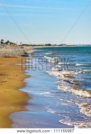 Kourion (agios Hermogenis) Beach In Cyprus