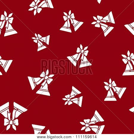 Seamless Pattern with Holiday Jingle Bells