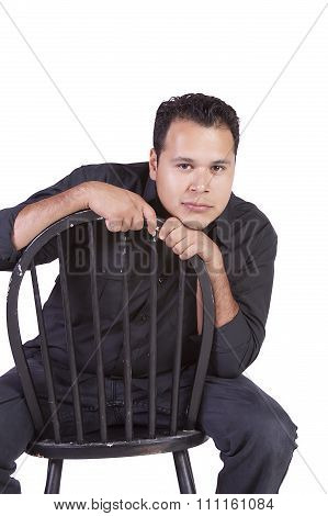Close Up On A Handsome Hispanic Man