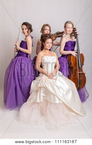 Musical Trio And A Bride