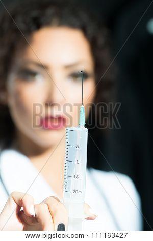 Nurse Holding Suringe