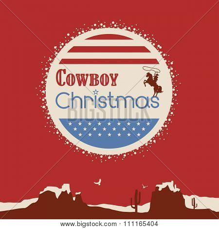 American Cowboy Christmas Poster