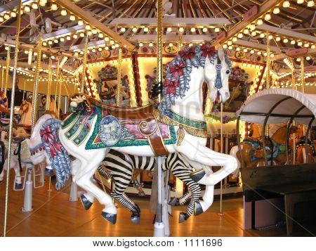 Fancy White Carousel Horse