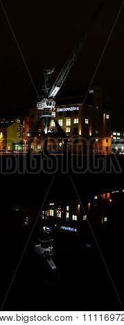 commercial Port in Magdeburg