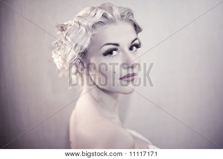 Fashion Portrait Of Young Elegant Woman