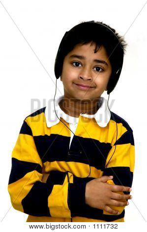Kid Enjoying Music