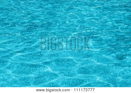 Blue Ripple Water Surface With Reflection